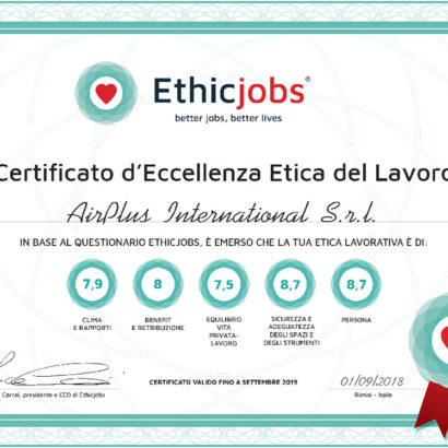 Certificato AirPlus International
