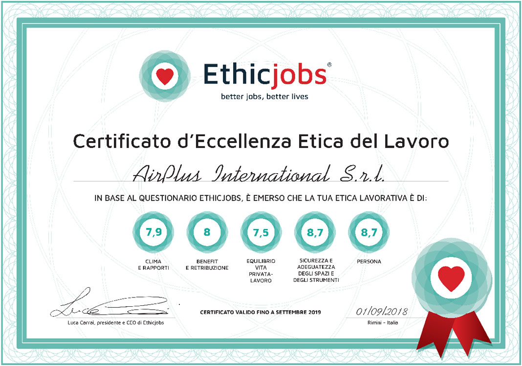 Certificato AirPlus International