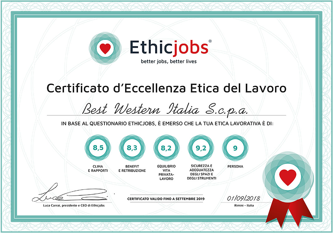 Certificato Best Western Italia