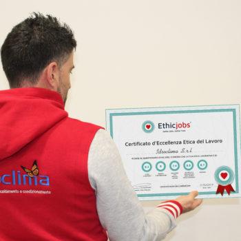 Certificato Idroclima Srl